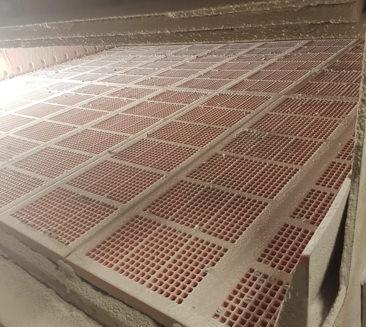 Sikteduker i modul fra Kûper til sikting av sand