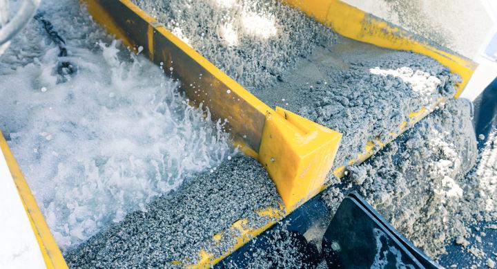Resirkulering av masse som asfalt og betong i vaskeanlegg fra CDE